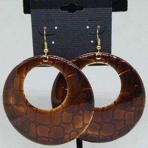 Earrings Large Textured Circle Drop/Dangle 1274
